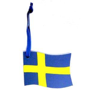Svensk flagga med band