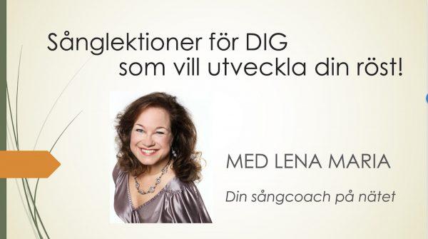 Sånglektioner med Lena Maria