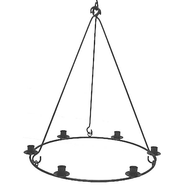 Ljusring i järn för 6 ljus Ø 45 cm 600x600
