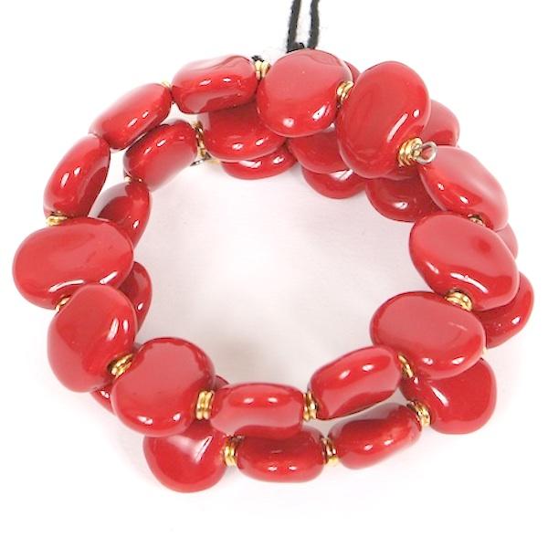 Kazuri Bracelets Flat - Bright red