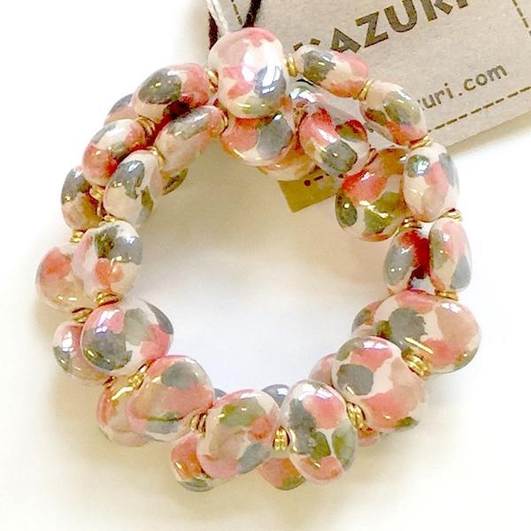 Kazuri Bracelets Flat - Fudge:G.Wood:Cinna:Rosso