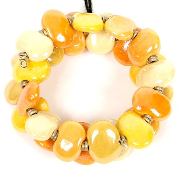 Kazuri Bracelets Flat - Yellow Mix