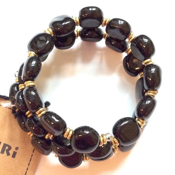 Kazuri Bracelets Tiny Smarty - Black
