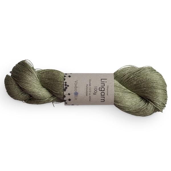 Växbo Lingarn Olivgrön